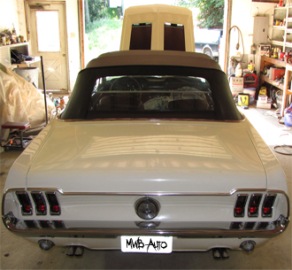 MWB Auto 1968 Ford Mustang Back Side